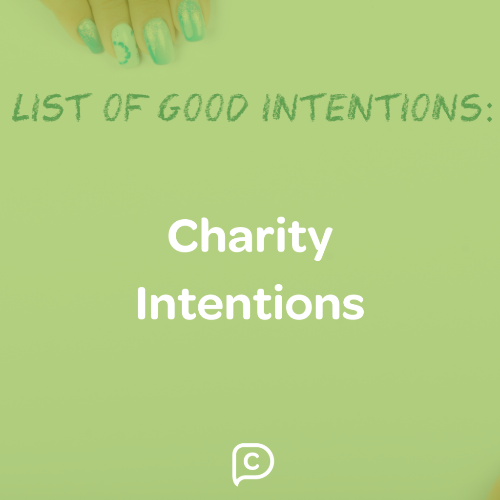charity intentions